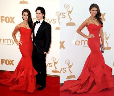 Nina-Dobrev-in-Donna-Karan-at-the-Emmysviafashionrules
